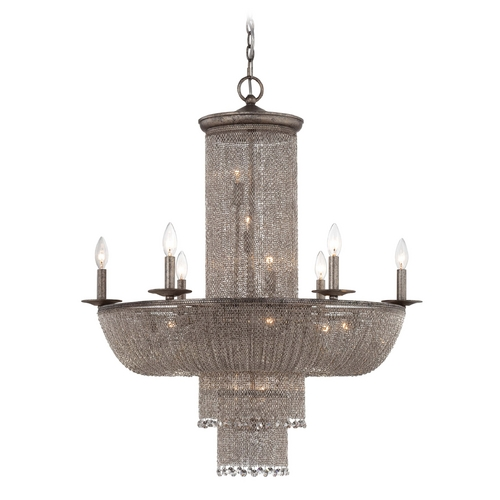 Metropolitan Lighting Chandelier in Antique Silver Finish N7216-578