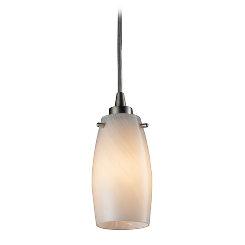 Elk Lighting Modern LED Mini-Pendant Light with Beige / Cream Glass 10223/1COC-LED