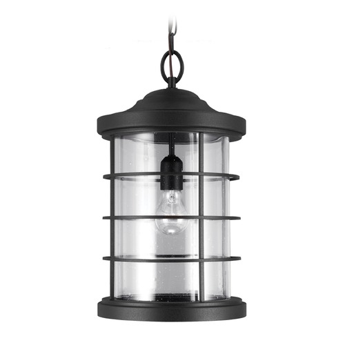 Sea Gull Lighting Sea Gull Lighting Sauganash Black Outdoor Hanging Light 6224401-12