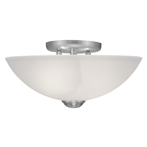 Livex Lighting Livex Lighting Somerset Brushed Nickel Semi-Flushmount Light 4207-91