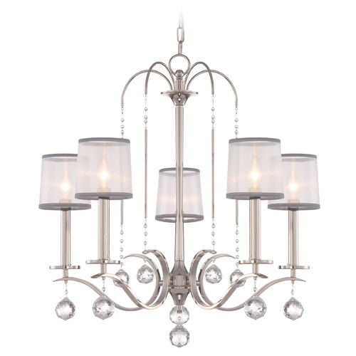Quoizel Lighting Quoizel Whitney Imperial Silver Chandelier WHI5005IS