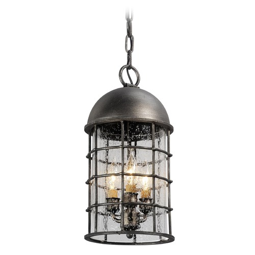 Troy Lighting Troy Lighting Charlemagne Aged Pewter LED Outdoor Hanging Light FL4437