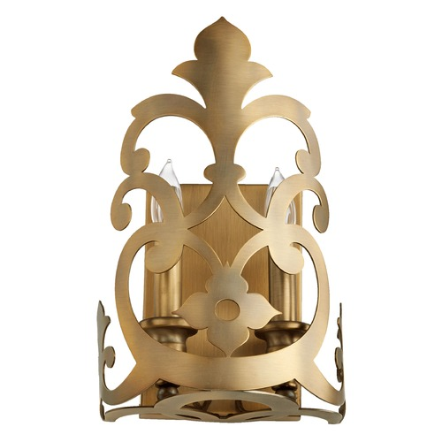 Quorum Lighting Quorum Lighting Charlton Aged Brass Sconce 533-2-80