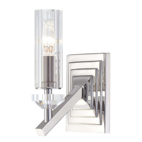 Metropolitan Lighting Sconce Wall Light with Clear Glass in Polished Nickel Finish N2651-613