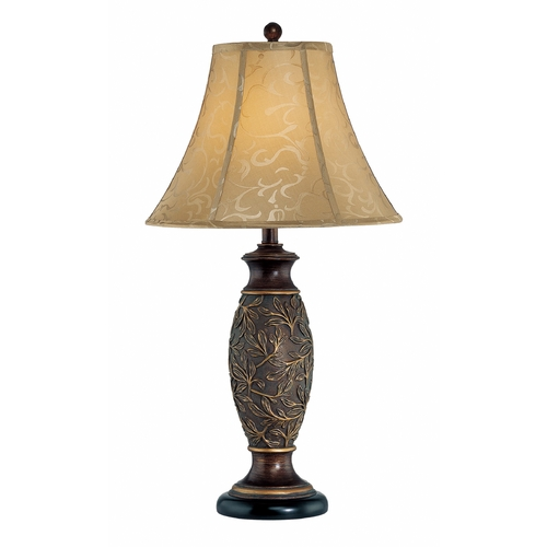 Lite Source Lighting Lite Source Lighting Gentry Dark Bronze Table Lamp with Bell Shade C41162