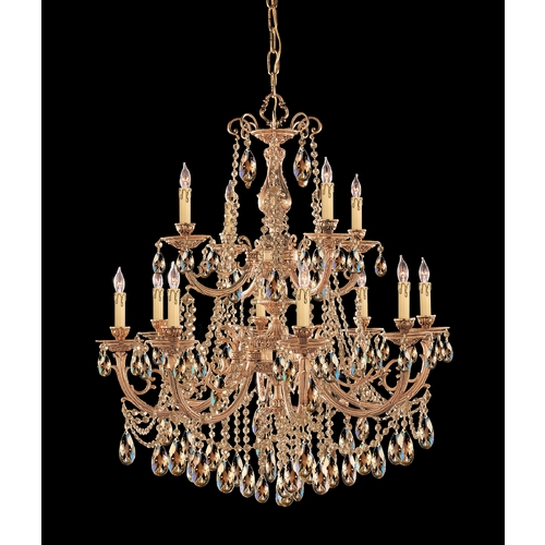 Crystorama Lighting Crystal Chandelier in Olde Brass Finish 479-OB-GT-MWP