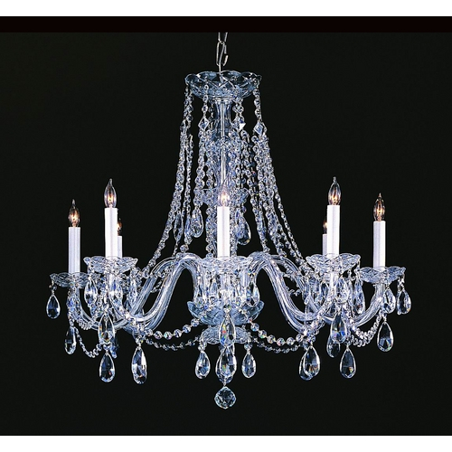 Crystorama Lighting Crystal Chandelier in Polished Chrome Finish 1138-CH-CL-SAQ