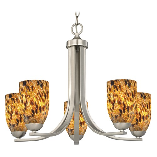 Design Classics Lighting Design Classics Dalton Fuse Satin Nickel Chandelier 584-09 GL1005D