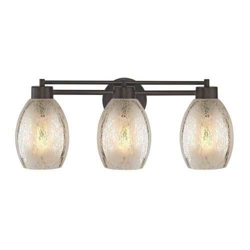 Design Classics Lighting Mercury Glass Bathroom Light Bronze 703-220 GL1034-MER