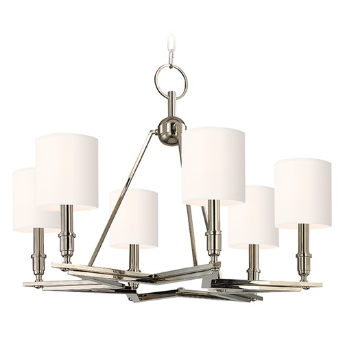 Hudson Valley Lighting Bethesda 6 Light Chandelier - Polished Nickel 4086-PN-WS