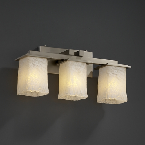 Justice Design Group Justice Design Group Veneto Luce Collection Bathroom Light GLA-8673-26-WHTW-NCKL