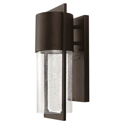 Hinkley Lighting Seeded Glass Outdoor Wall Light Bronze Hinkley Lighting 1320KZ