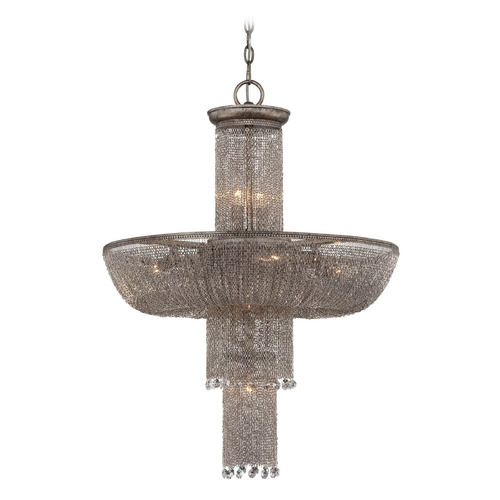 Metropolitan Lighting Chandelier in Antique Silver Finish N7218-578