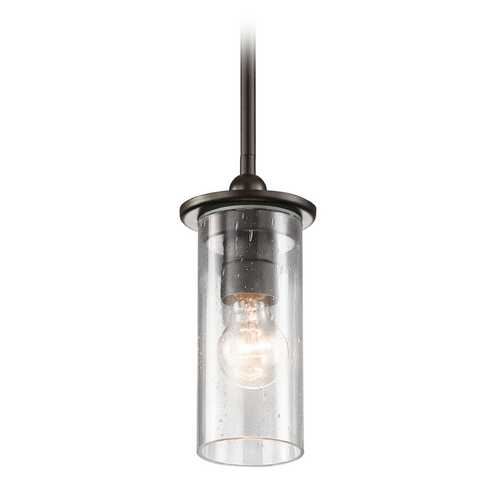 Kichler Lighting Kichler Lighting Kayde Olde Bronze Mini-Pendant Light with Cylindrical Shade 42125OZ