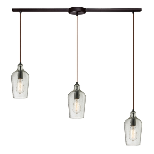 Elk Lighting Multi-Light Pendant Light with Clear Glass and 3-Lights 10331/3L-CLR