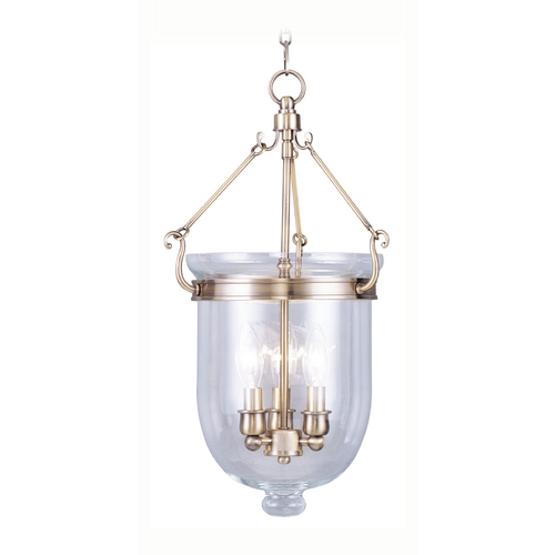 Livex Lighting Livex Lighting Jefferson Antique Brass Pendant Light with Bowl / Dome Shade 5063-01