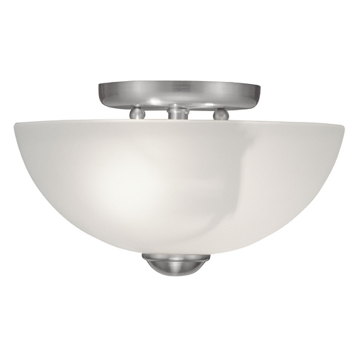 Livex Lighting Livex Lighting Somerset Brushed Nickel Semi-Flushmount Light 4206-91
