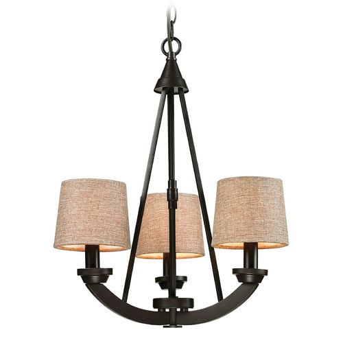 Elk Lighting Elk Lighting Morrison Oil Rubbed Bronze Mini-Chandelier 63073/3