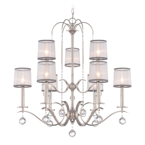 Quoizel Lighting Quoizel Whitney Imperial Silver Chandelier WHI5009IS