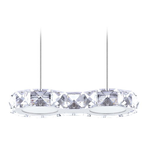 Eglo Lighting Eglo Corliano Chrome LED Mini-Pendant Light with Oval Shade 201576A