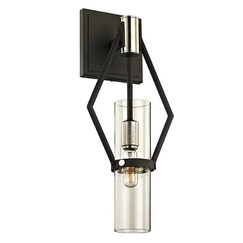 Troy Lighting Troy Lighting Raef Textured Black & Polish Nickel Sconce B6321