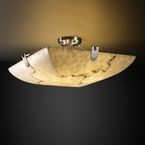 Justice Design Group Justice Design Group Lumenaria Collection Semi-Flushmount Light FAL-9612-25-NCKL