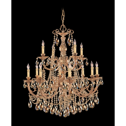 Crystorama Lighting Crystal Chandelier in Olde Brass Finish 479-OB-GTS