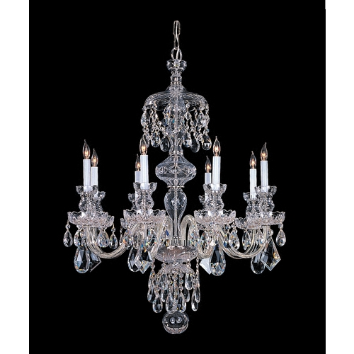 Crystorama Lighting Crystal Chandelier in Polished Chrome Finish 1148-CH-CL-MWP