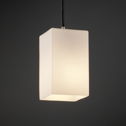 Justice Design Group Justice Design Group Fusion Collection Mini-Pendant Light FSN-8816-15-OPAL-NCKL