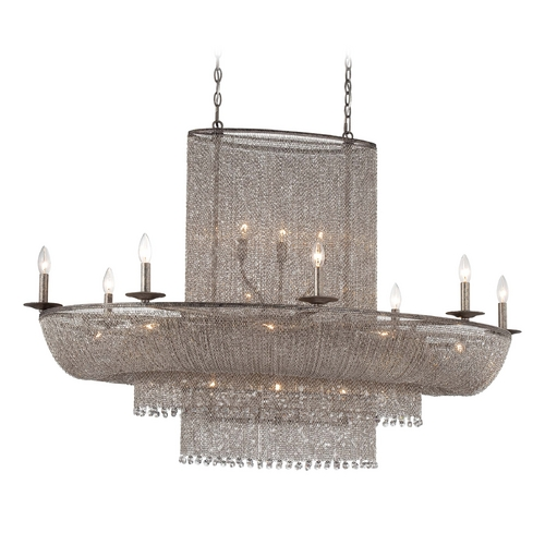 Metropolitan Lighting Chandelier in Antique Silver Finish N7222-578