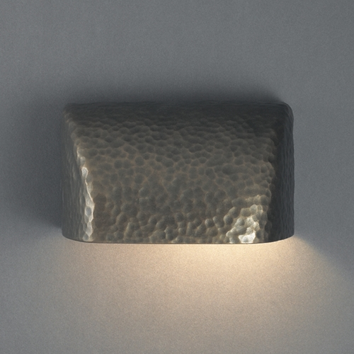 Justice Design Group Outdoor Wall Light in Hammered Brass Finish CER-2900W-HMBR