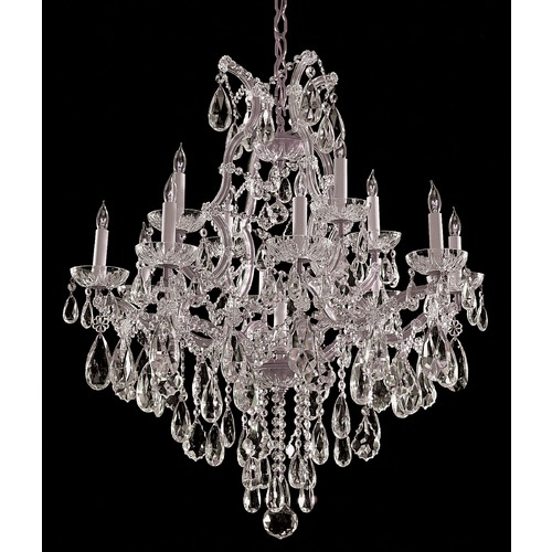 Crystorama Lighting Crystorama Lighting Maria Theresa Polished Chrome Crystal Chandelier 4413-CH-CL-S