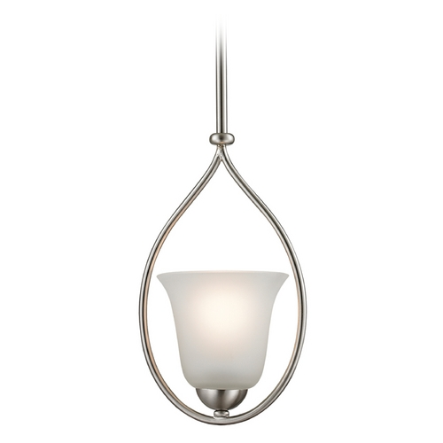 Cornerstone Lighting Cornerstone Lighting Brushed Nickel Mini-Pendant with Bell Shade 1201PS/20