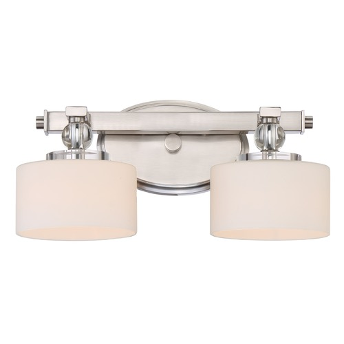 Quoizel Lighting Quoizel Lighting Downtown Brushed Nickel Bathroom Light DW8602BNLED