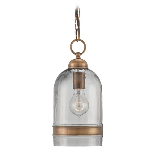 Currey and Company Lighting Currey and Company Muirhouse Antique Brass Pendant Light 9291