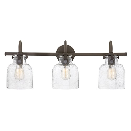 Hinkley Industrial Seeded Glass Vanity Light Bronze 3 Lt by Hinkley 50123OZ