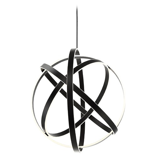 Modern Forms by WAC Lighting Modern Forms Kinetic Black LED Pendant Light 3500K 3499LM PD-61738-BK