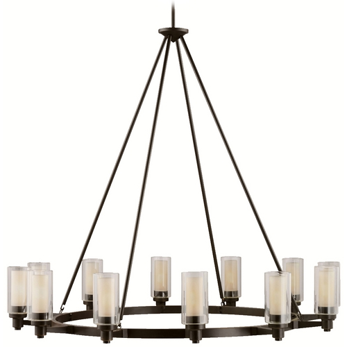 Kichler Lighting Kichler Modern Chandelier with Clear Glass in Olde Bronze Finish 2347OZ