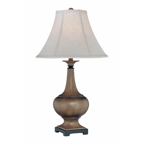 Lite Source Lighting Lite Source Lighting Malloren Natural Wood Table Lamp with Bell Shade C41166