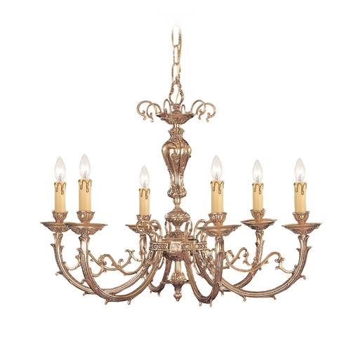 Crystorama Lighting Chandelier in Olde Brass Finish 489-OB