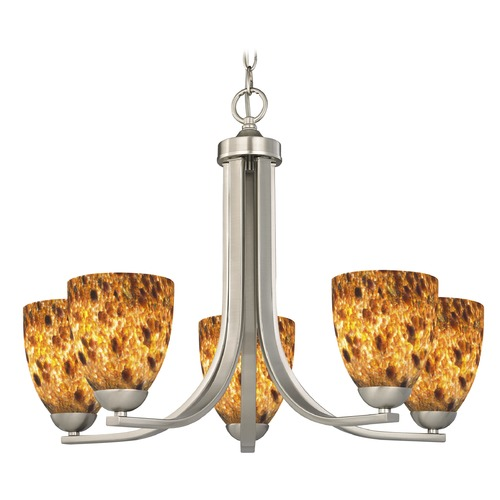 Design Classics Lighting Design Classics Dalton Fuse Satin Nickel Chandelier 584-09 GL1005MB