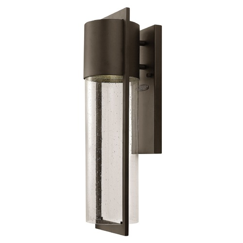 Hinkley Lighting Outdoor Wall Light with Clear Glass in Buckeye Bronze Finish 1324KZ