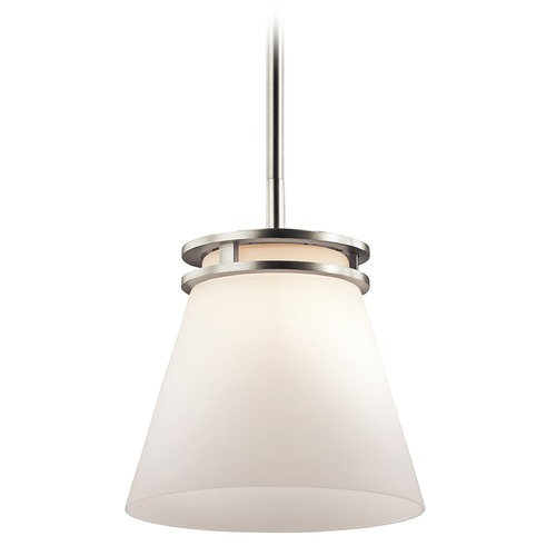 Kichler Lighting Kichler Lighting Hendrik Brushed Nickel Mini-Pendant Light with Empire Shade 1687NI