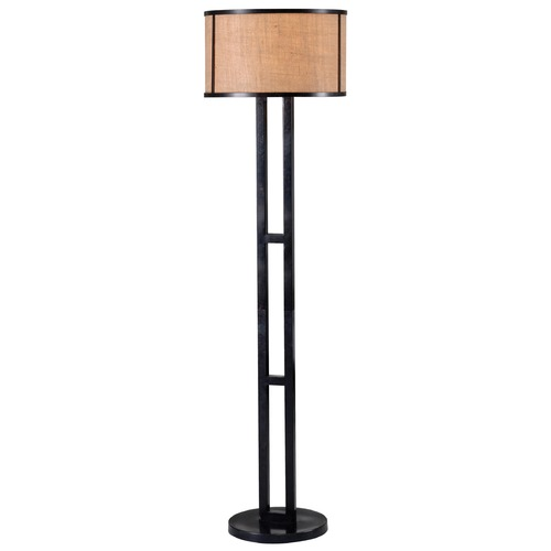 Kenroy Home Lighting Kenroy Home Lighting Keen Bronze Floor Lamp with Drum Shade 32313BRZ