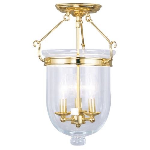 Livex Lighting Livex Lighting Jefferson Polished Brass Semi-Flushmount Light 5062-02