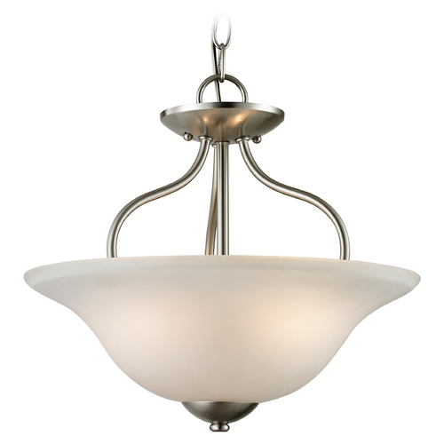 Cornerstone Lighting Cornerstone Lighting Conway Brushed Nickel Pendant Light 1202CS/20