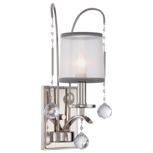 Quoizel Lighting Quoizel Whitney Imperial Silver Sconce WHI8701IS