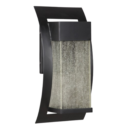 Craftmade Lighting Seeded Glass LED Outdoor Wall Light Black Craftmade Lighting Z2504-11-LED