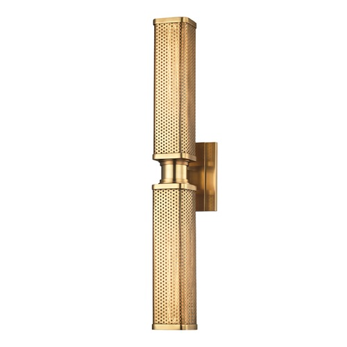 Hudson Valley Lighting Hudson Valley Lighting Gibbs Aged Brass Sconce 7032-AGB