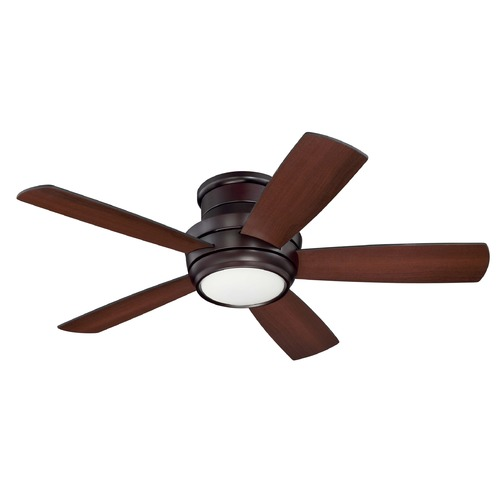 Craftmade Lighting Craftmade Lighting Tempo Hugger Oiled Bronze LED Ceiling Fan with Light TMPH44OB5